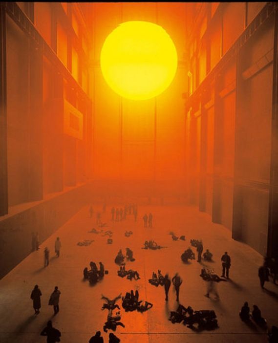 installation view olafur eliasson the weather project